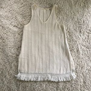 Anthropologie sweater tunic tank with tassels